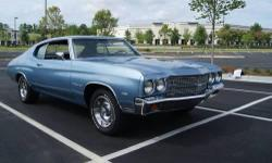 1970 Chevelle Malibu fully restored with a rebuilt 400 engine and rebuilt 350 transmission. Options: P/S and P/B, AC andAM/FMRadio. New paint, chrome, and tires. I can help arrange shipping. For more information call John at --. To see