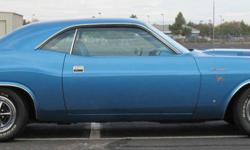 For more pictures email at: rhiannonmccathran@juno.com . I have for sale my 1970 Dodge Challenger R/T with a numbers matching 440 4bbl engine, torqueflite transmission, factory air conditioning, and power steering, bucket seats, and slap-stick shifter. I