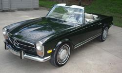 If you have any questions or would like to view the car in person please email me at: jolinejwwikoff@ukpoets.net . I am offering my unrestored and original but repainted 1970 Mercedes Benz 280SL There has been no crash damage or rust repair. The paintwork