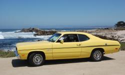 This is a numbers matching 1970 Plymouth Duster 340. We have the original Broadcast sheet. The engine has been balanced and blueprinted; bored 40 over. Rebuilt 727 automatic transmission; bolt in sprag, deep pan and shift kit. Differential rebuilt with