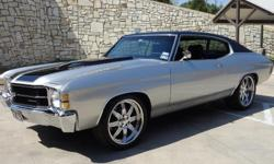 1971 Chevelle SS Tribute Resto-Mod 496 EFI Motor = 450hp, 439tq on Mustang Chassis Dyno 6 Speed Programmable Auto/Paddle Shift Manual Transmission Hotchkiss, Global West, Detroit Speed Sport Suspension Originally a 1971 Malibu Virtually all parts less