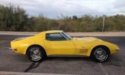 1971 Corvette Stingray LS-5 Coupe with matching numbers, 83,500 original miles and the factory options and accessories sought by serious Corvette enthusiasts and collectors.  Original 454 cu. in. 365 horsepower big block engine rebuilt with less than