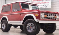 Home of the 5 time NBA Champs $26950.00! Arguably the cleanest restored Bronco we have had to date! 302cid V8, 3 on the tree, 4X4! Solid body, fit and finish is excellent, underneath is clean and very presentable, Drive train is solid, frame and
