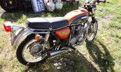 this is a survivor,it is original except for exhausts,they never made it past the second year in kansas or mo,they rusted into oblivion no matter what,this bike on a scale of 10 is a 9 it needs the tank cleaned and carbs and new battery naturally, clean