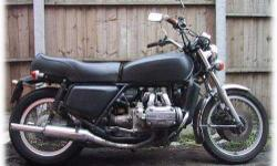 1976 GL1000. Black with chrome accessories.Adult owned.Recently out of climate controlled storage. Completeand in good condition.Icleanedcarbs and dipped andsealed fuel tank. Bike now starts but will benefit