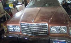 1977 Ford LTD Been sitting in garage for 3 years. Great project car. Nice body, very little rust. Rear bumper detached, needs transmission, tires, headlight. Upholstery in excellent shape, carpet needs replacing. Nice car for the money. Come take a look!