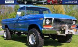 1978 FORD F-150 CUSTOM Solid Oregon 4x4! V8 4 Speed Manual Shift! Blue Exterior Blue Cloth Interior Winch 46,884 Miles WARN Hubs Code Tag: 1331 F141AB4AH2 06300 1978 74 Factory Books! VIN F14HRAE2183 BANK FINANCING AVAILABLE !! EASY ONLINE APPLICATION!