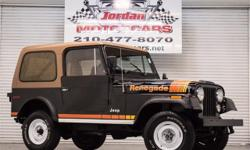 #1 Classic Jeep dealer in South Texas. Easycredit apply with your phone, Ipad or computer. Call or text William Franklin 210-279-4949. This beautiful CJ-7 Renegade was purchased new in Colorado Springs and has been in the same family