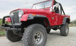 I'm selling my rare, very nice 1981 Jeep Scrambler. It is collectible and ready to cruise. There were 603,303 CJ5s and 379,299 CJ7s produced. All told, Scramblers make up significantly less than 3% of that total. This beauty has been built