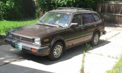 1982 HONDA CIVIC Station Wagon; 5 speed, A/C, Cruise Control, AM/FM, Color Brown. Car in overall good condition. Car runs well and everything works! A/C could probably use a recharge. Car has been garaged and used very little in the last several years.