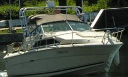 """Boat has a Mercruiser 260 inboard engine. This is a great clean and good running boat. Boats name is """"Free Willy"""" Electronic ignition Radar Depth finder Newer canvas which can enclose just seating, or theentire rear area. New batteries Alcohol"""