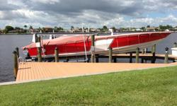 If one of you isinterested in a great riding and looking boat. If so my contact info is: Charles Leeb (717) 571-1322 Several hundred thousand invested. Sac for $79,900 OBO. Boat is located in Cape Coral, FL in dry indoor storage Some specs as