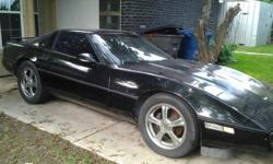 Black corvette with glass top needs water pump and break booster. Starts and runs. Great project car. Can send additional pictures if needed. Only serious inquires must sale. Asking $2900.00Contact by txt or phone at 210-291-2427 ask for Jon.