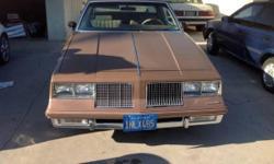 1985 Cutlass Supreme - 3.8 LT V6 engine - 2 door RWD ( Gold Color original ) Original California Car ( Blue plates ) / automatic Transmission / Power Windows Tilt Steering / Original Wire Basket Hubcaps / Michelin Tires ( whitewalls ) 86000 original miles