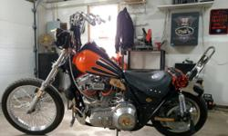 This bike runs great and is fun and fast to ride. Lots of custom parts. Trophy winner ,I have all the orignal parts, Police speedo , Tach, floor boards etc. Its has 1300 cc, S&S carb, Streetsweeper exhaust, new tires and rims, batt, clutch pack,