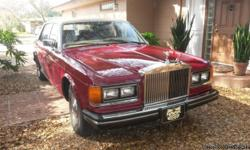 More infos regarding my car at: mindamttrenton@bikemechanics.com . Beautiful 1985 Rolls Silver Spur Florida Car 2nd owner Garage Kept Claret Red with Tan top Camel leather interior Many extras
