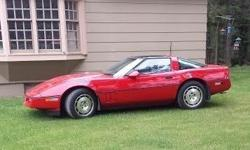 Step into a fast and fun driving experience with this 1986 Chevrolet Corvette! This two-door sports car is brimming with a sleek, athletic styling that is sure to turn heads. With bright red paint that is complimented by a clean gray interior