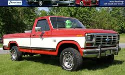 1986 FORD F-150 REGULAR CAB ONLY 136,233 Miles! 4X4 5.0L V8 Automatic Transmission Solid Southern NC Truck! KOBALT Toolk Box Bed Liner BFG Tires Alloys WARN Hubs Factory Books/Keys and More! VIN 1FTEF14N6GNA09542 BANK FINANCING AVAILABLE !! EASY ONLINE
