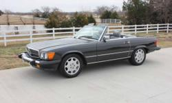 1986 560SL ORIGINAL CAR NEVER RESTORED, VERY NICE CONDITION WITH 67,000 ORIGINAL MILE. INCLUDES BOTH TOPS. NEW TIRES,NEW WATER PUMP,NEW FUEL PUMP, NEW MUFFLER, RECENT MAJOR SERVICE, FRONT/REAR PASSPORT RADAR DETECTOR, 6 DISC CD PLAYER WITH REMOTE.