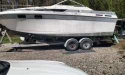 1987 Chris Craft 250 Amerosport I had a new motor installed in 2008 383 stroker Mercury Marine also had the out drive rebuilt also had the ez load trailer rebuilt with new axles, hubs,tires,disk breaks,SS break lines,master cylinder, LED lights and