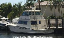 1988, 65? Hatteras 65 Convertible Enclosed Bridge Current Price: $299,000 Sleeps six in three staterooms. The master stateroom is forward with a queen walk around with two sets of drawers and a cedar lined closet. The master head features a tub, shower