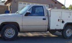 1988 Chevy 3500 Work Truck. Single Axel with Service Bed. Runs GOOD apx 10,000 on 350 Crate Motor, AT AC. 2300.   OBO --