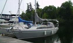 This is an O'Day 32' sailboat. It has been very well maintained. Accommodations: 6+ head room, 3 separate cabins, galley, propane stove with oven, hot /cold pressure water, head with shower, ice box. 18 HP Yanmar diesel 2 cylinder, wheel steering, 3
