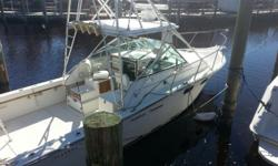 This vessel is turn key, read to fish or just being out on the water! Motors have been replaced with factory Crusader 270, also the fuel tank and fuel supply. Electronics Raytheon Radar Furuno GP 7000 Si Tex 90D GPS Horizon Intrepid VHF radio Horizon