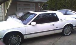 1989 buick riviera 1989 BUICK RIVIERA WHITE 2 DOOR CLASSIC IN EXCELLENT CONDITION GARAGE KEPT 85000 miles BEAUTIFUL CAR MOONROOF, LEATHER INTERIOR POWER SEATS PLEASE CALL/TEXT FIRST, then EMAIL, thanks 847 849 6799 847 293 3733