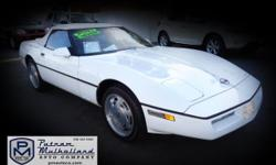 1989 Chevy Corvette | Chico, CA | Putnam Mulholland Auto Company, Inc. 530-343-5565 | 800-600-5564 Contact Us   Mileage: 81,588 miles Exterior: White Interior: Blue Transmission: Automatic VIN: 1G1YY3187K5122158