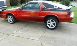 1989 DODGE DAYTONA E/S 2.5 5 SPEED SUNROFF AM/FM CD PLAYER REBUILIT ENGINE ABOUT 3 AND HALF YEAR'S AGO. RED IN COLOR GREY INSIDE. 16 INCH WHEELS AIR SHOCK'S IN REAR, 32 TO 38 MPG TO MUCH TO LIST JUST INSPECTED ALSO. HEALTH PROBLEM'S.