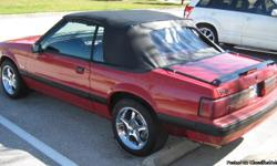 1989 Ford Mustang Lx 5.0 Convertible Original Paint, Interior, Radio, 147,000 Miles Has Chrome Cobra R wheels Short shifter Flowmasters New Cultch New Black Top New Battery A Little work and you have a great car Asking $4.500 OBO Trade for mustang V8 2001