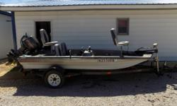 Trailer included. This boat has a new gas motor, trolling motor, & a livewell. Nice & Clean