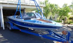 1989 Ski Sanger with factory installed 454 - only one produced. 610 hours, blue with blue/gray highlights with ski tower. Only in the water at one lake for 610 hours. Always stored in a garage. Like new condition. 19K. Call 209-785-3448 to leave message.