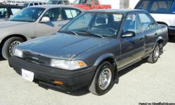1989 TOYOTA COROLLA VIN: JT2AE94FXK0080900 1.6 LITER 4-CYL AUTOMATIC ALL WHEEL DRIVE (ALL-TRAC) EQUIPMENT AIR CONDITIONING, TILT WHEEL, AMFM STEREO, CASSETTE, MILEAGE??219955 SELLING FOR??$2,495