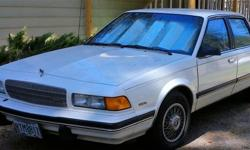 Buick 4 door sedan, white, one owner less than 100,00 miles. A/C and heater works, upholstry good, new tires. cash only.
