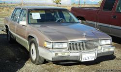 1990 CADILLAC DEVILLE VIN: 1G6CD5335L4304882 4.5 LITER V8 AUTOMATIC FRONT WHEEL DRIVE  EQUIPMENT AIR CONDITIONING, LEATHER, POWER WINDOWS, POWER LOCKS, TILT WHEEL, CRUISE CONTROL, AMFM STEREO, CASSETTE, DUAL POWER SEATS, ALLOY WHEELS, FRONT AIR