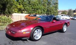 This local Corvette Roadster was adult owned and well cared for and maintained. Original miles are less than 76k and within the last 6,000 miles it had a complete rebuilt engine, new clutch, new tires and new soft top installed. Options include Dark Red