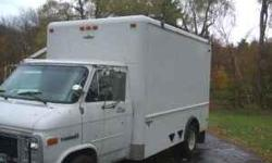 Truck Has 12' Aluminum Body with roll-up door & pass thru to cab. Dual rear wheels, all new tires last year. has new brakes/calipers, but needs 1 Front rotor & steering shaft (has a lot of play in wheel) 210k miles...Recent Sheetmetal repairs. Asking