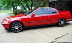 I have a nice acura for sale with low miles. 3.2 l engine in great condition !  Red color with leather!!