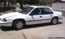1992 Chevrolet Lumina Euro, Cold A-C, Asking $1100 OBO MUST SELL ASAP! - (Phoenix) VIN: 2G1WN54T2N9111152 condition: good cylinders: 4 cylinders drive: fwd fuel: gas odometer: 113000 paint color: white size: mid-size title status: clean transmission: