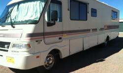 This RV is in very good condition.  It has a very strong 460 ford engine.  All appliances are in good condition and work well.  It is very nice.  It is a Fleetwood Southwind.