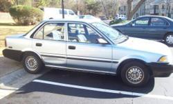1992 Toyota Corolla Blue4door, 5 speed (gas saver), NICE CAR & RUNS good!! Must see call Rob --