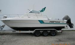 """1993 Pro-Line 240 1993 Proline 240 Walk Around Boat - with a Suzuki 250 Four Stroke Engine Please text or email PICK UP ONLY Excellent condition , 2nd owner LENGTH OVER ALL ( L.O.A.) 28' 4"""" Measured with engines"""