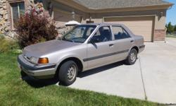 Great transportation, runs great, great gas milage, stick shift, low milage for age, 124,000 miles. clean title, some fading paint. Air conditioner not working. Call Vaughn @ 801-390-8437 or Angelo @ 801-882-8963. Kaysville.