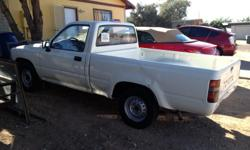 1994 TOYOTA TRUCK 5SPD MANUEL TRANS 166000 MILES, NO A/C, BASIC TRUCK, SALVAGE TITLE GOT REAR ENDED, WHITE IN COLOR, CALL OR TXT --