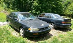 1995 Black, Toyota Camry LE, 6 cylinder automatic, engine bad, interior good condition ,as is fix or parts car. 1994 Green,Toyota Camry Gold American Edition XLE, 6 cylinder automatic, engine replaced with 60,000 miles on engine, ran when parked, wrecked,