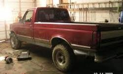 Standard transmission red pickup with some significant rust spots throughout the body. Needs some work on the roters and the emergency brake but still a good purchase. Directly bought from the dealer recently and waiting for a good mechanic's home. Been