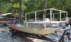 1995 Generation III 16ft Bow Fishing Boat and Trailer with 25hp Nissan. Short term layaway available with no credit check. We will go up to 3 months in the spring/summer and up to 6 months in the fall/winter. Most boats we require $500.00. Shown by