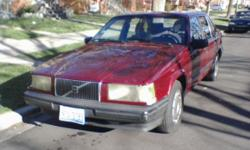 good running volvo 940 4 cylinder 4 door that runs good ,138k ---this car has a new timing belt and fresh oil change great get around car------call michael @ --